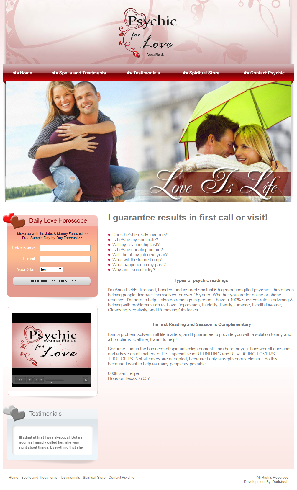 Psychic for Love Anna Fields Houston Texas